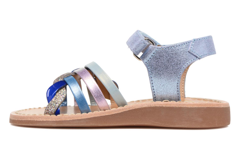Sandals Pom d Api YAPO TRESSE Multicolor front view