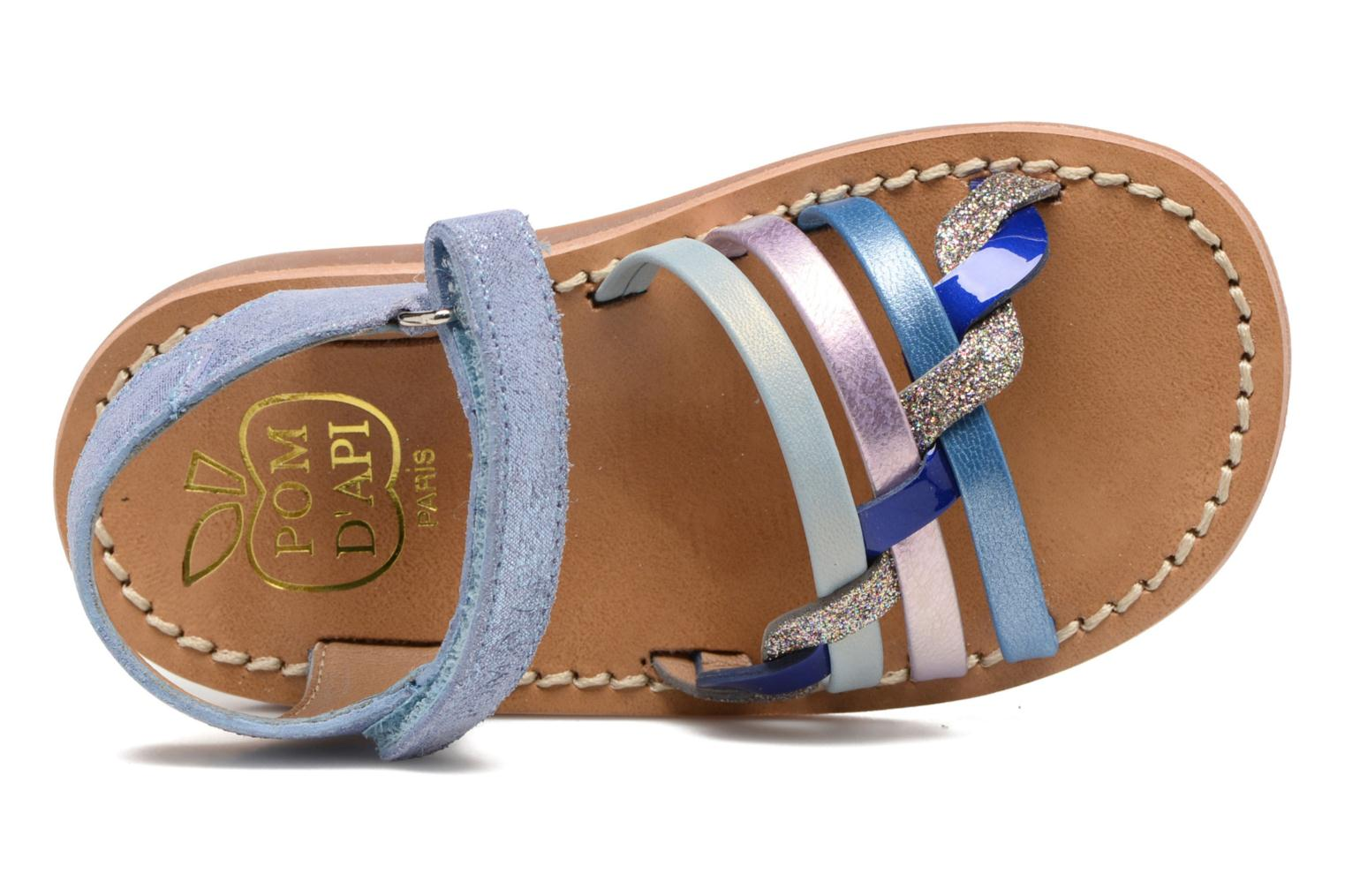 Sandals Pom d Api YAPO TRESSE Multicolor view from the left