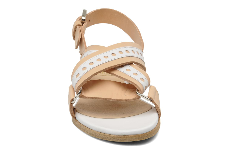 Sandales et nu-pieds Rebecca Balducci Garda Beige vue portées chaussures