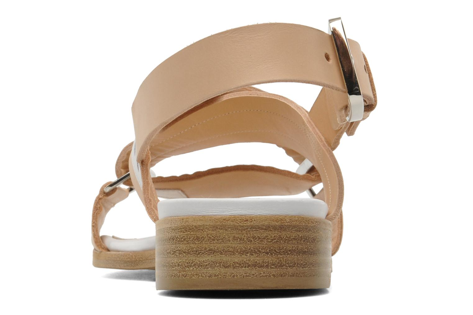 Sandals Rebecca Balducci Garda Beige view from the right