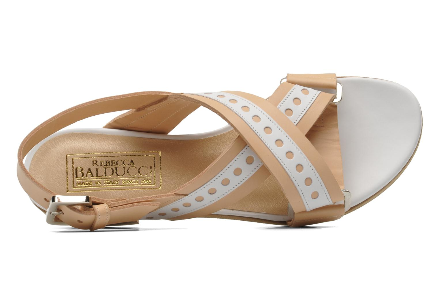 Sandals Rebecca Balducci Garda Beige view from the left