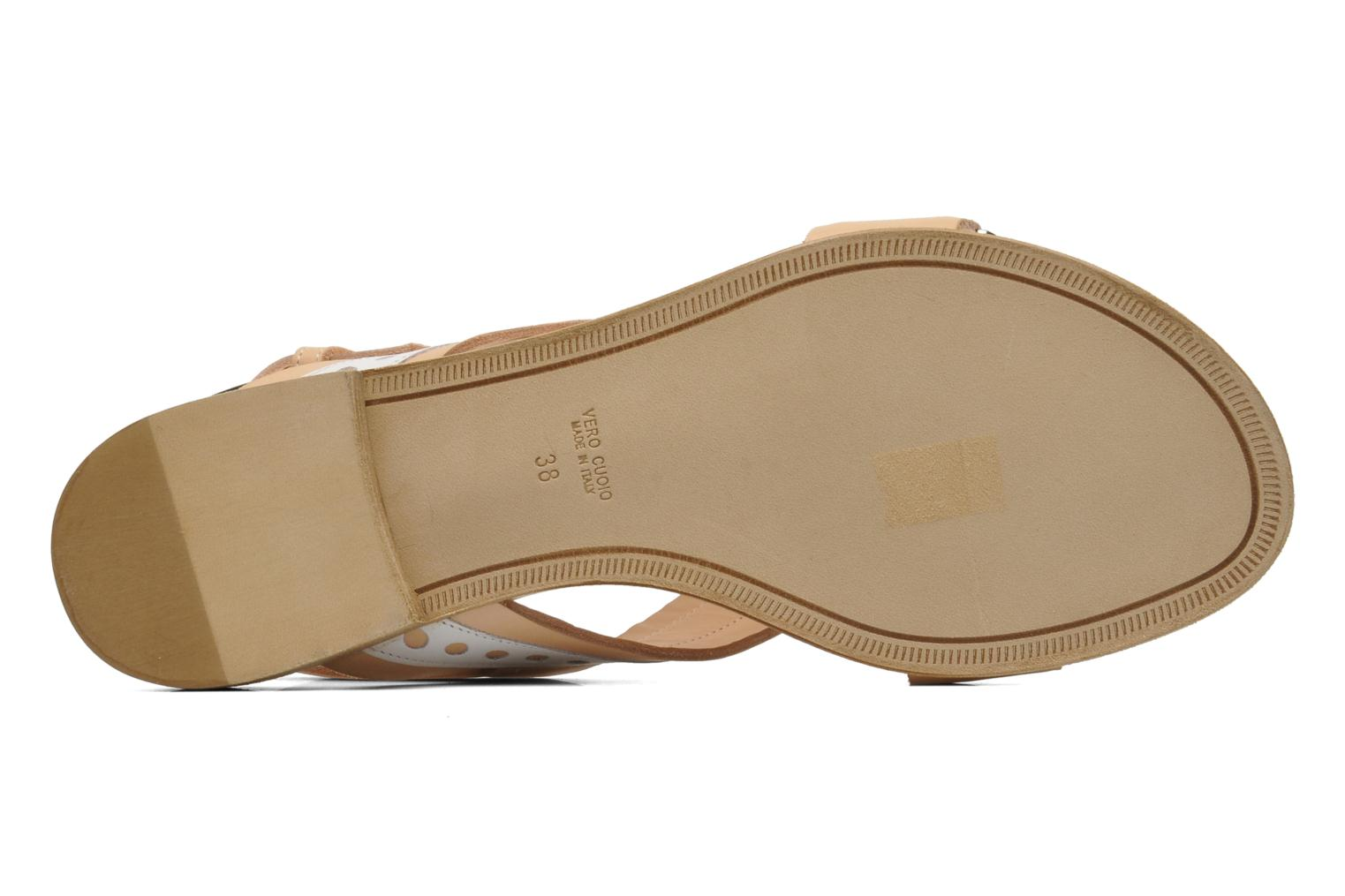 Sandals Rebecca Balducci Garda Beige view from above