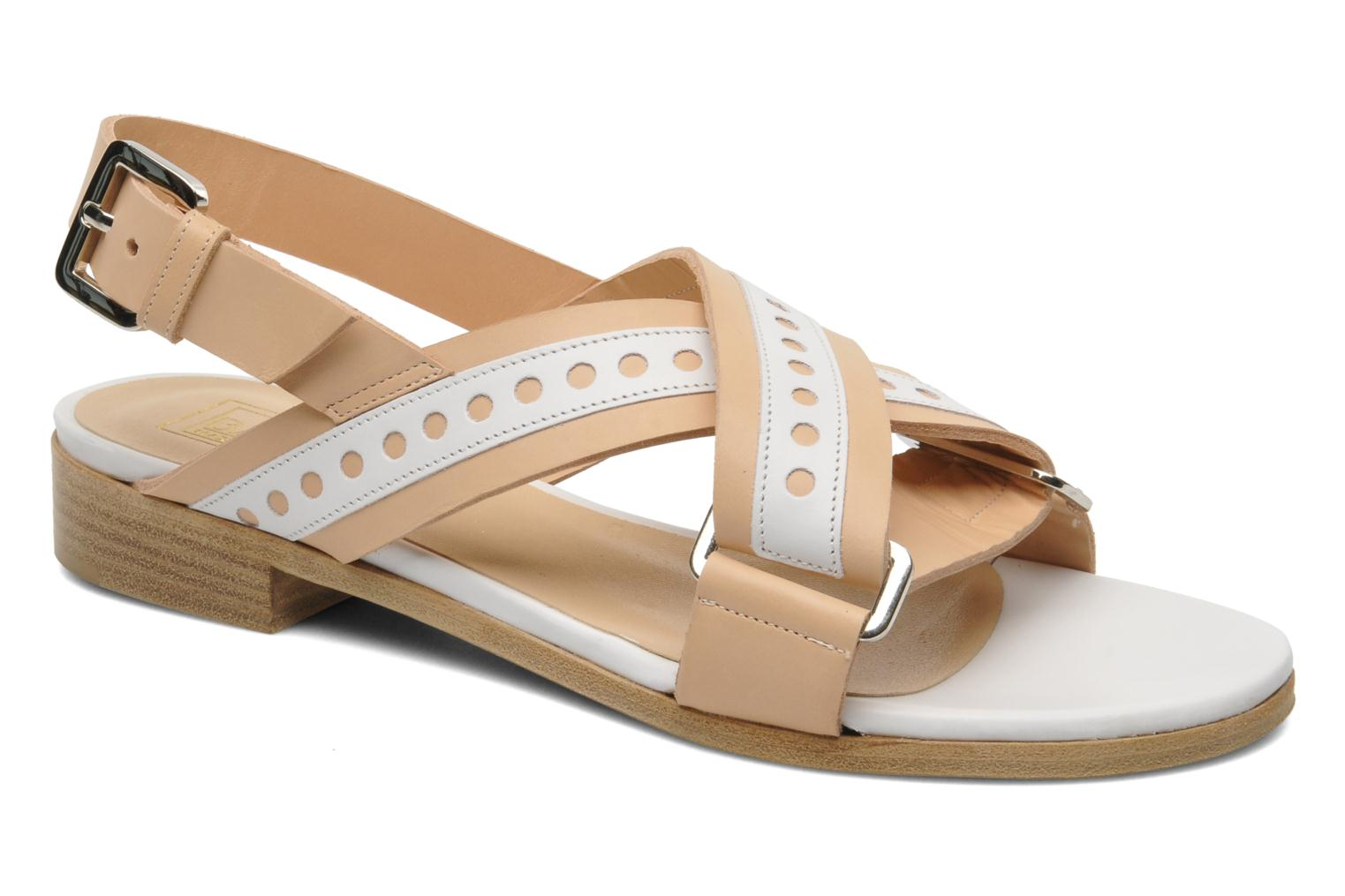 Sandals Rebecca Balducci Garda Beige detailed view/ Pair view