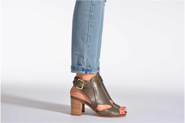 Sandales et nu-pieds Rebecca Balducci Athena Noir vue bas / vue portée sac