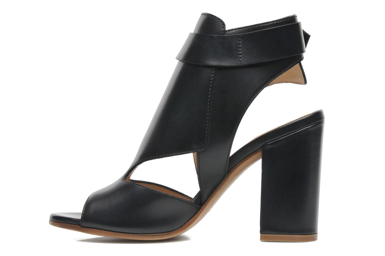 Sandales et nu-pieds Rebecca Balducci Athena Noir vue face