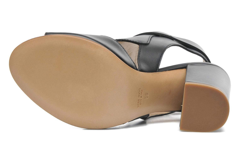 Sandales et nu-pieds Rebecca Balducci Athena Noir vue haut
