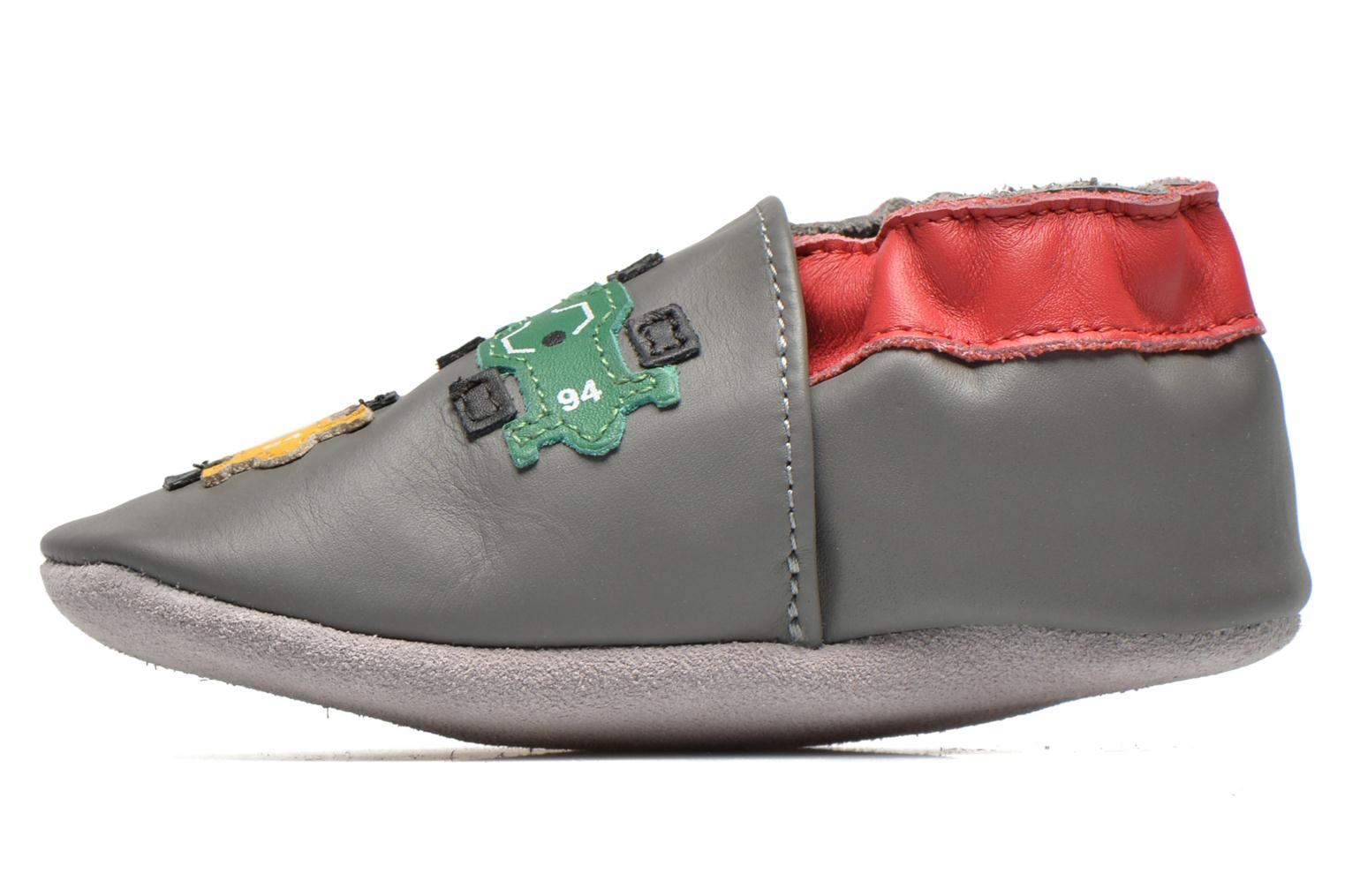 Chaussons Robeez Racing Gris vue face