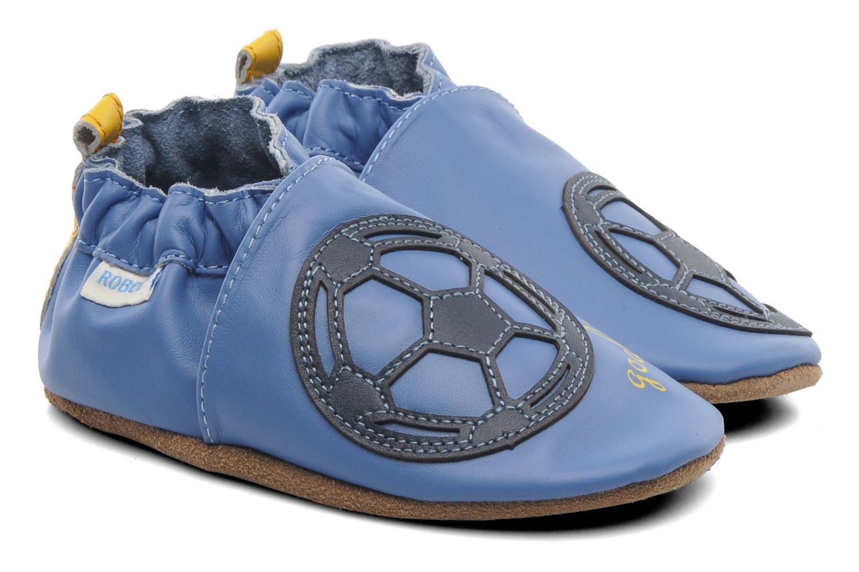 Pantuflas Robeez Soccer Boy Azul vista de detalle / par