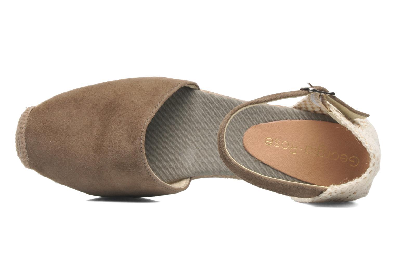 Sandales et nu-pieds Georgia Rose Inan Marron vue gauche