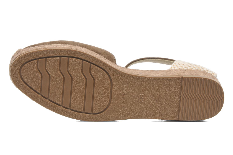 Sandales et nu-pieds Georgia Rose Inan Marron vue haut