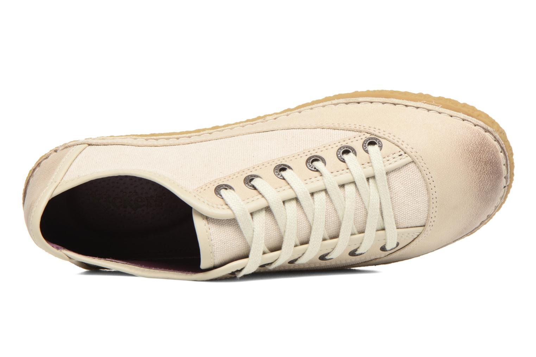 Chaussures à lacets Kickers Hollyday Blanc vue gauche