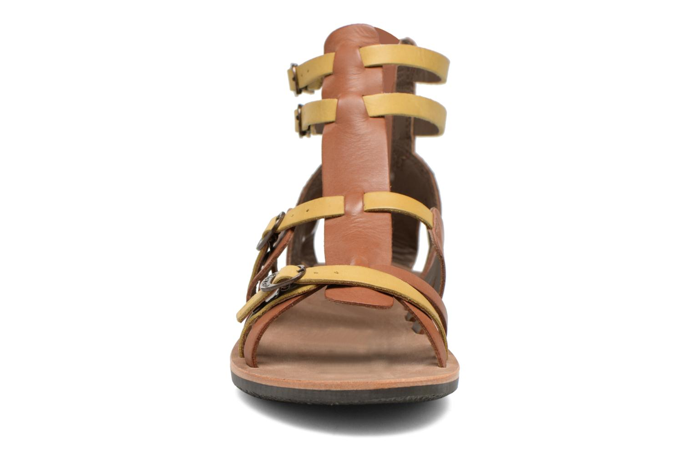 Sandales et nu-pieds Kickers Spartiaten Marron vue portées chaussures