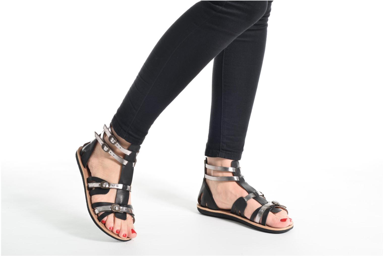 Sandales et nu-pieds Kickers Spartiaten Marron vue bas / vue portée sac