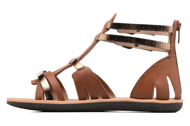 Sandales et nu-pieds Kickers Spartiaten Marron vue face