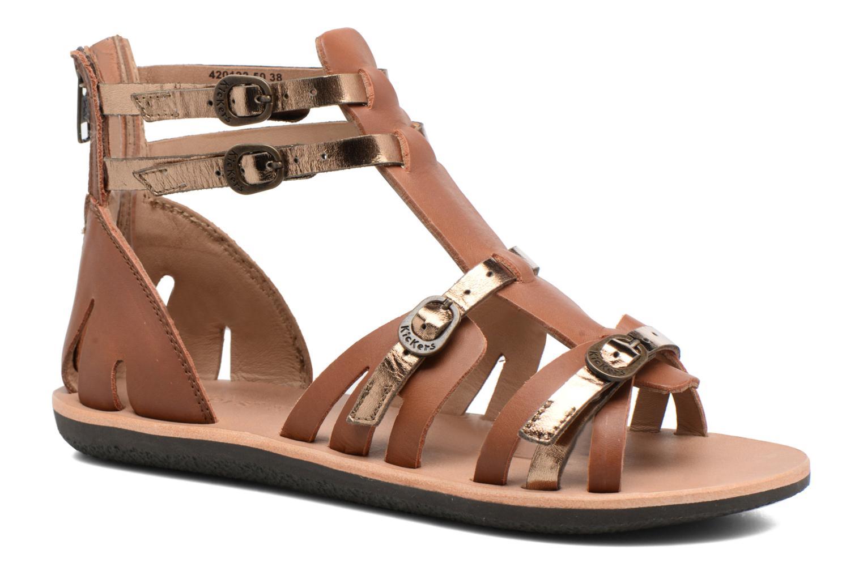 Sandales et nu-pieds Kickers Spartiaten Marron vue détail/paire