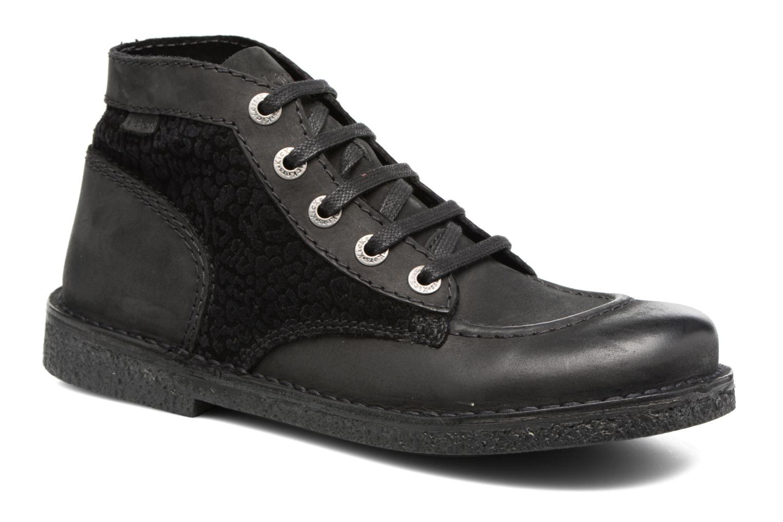 Snøresko Kickers Legendiknew Sort detaljeret billede af skoene