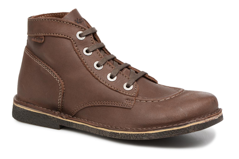 Snøresko Kickers Legendiknew Brun detaljeret billede af skoene