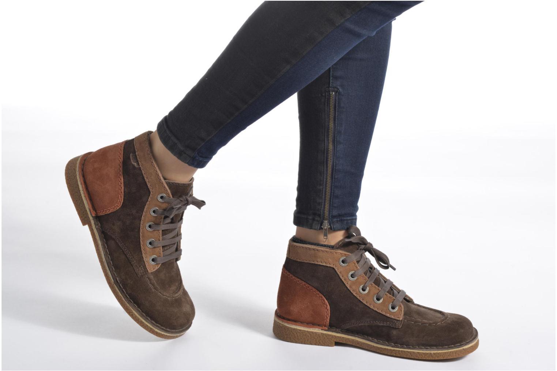 Zapatos con cordones Kickers Legendoknew Marrón vista de abajo
