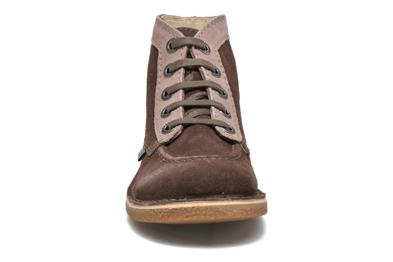 Zapatos con cordones Kickers Legendoknew Marrón vista del modelo