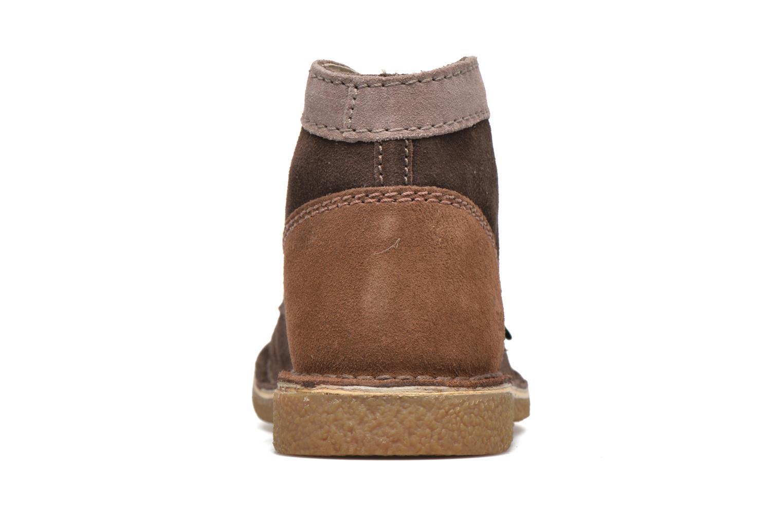 Zapatos con cordones Kickers Legendoknew Marrón vista lateral derecha