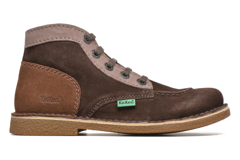 Zapatos con cordones Kickers Legendoknew Marrón vistra trasera
