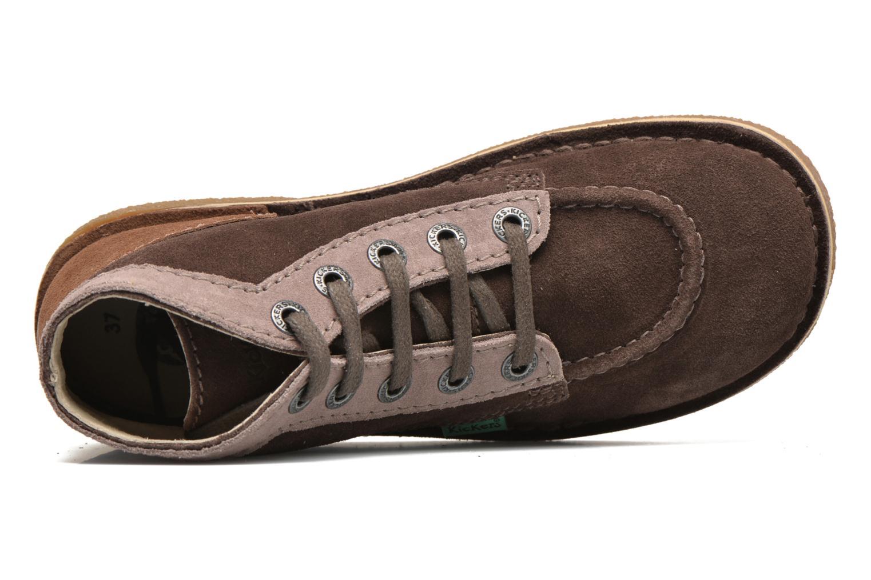 Zapatos con cordones Kickers Legendoknew Marrón vista lateral izquierda