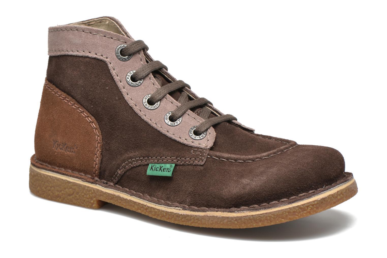 Zapatos con cordones Kickers Legendoknew Marrón vista de detalle / par