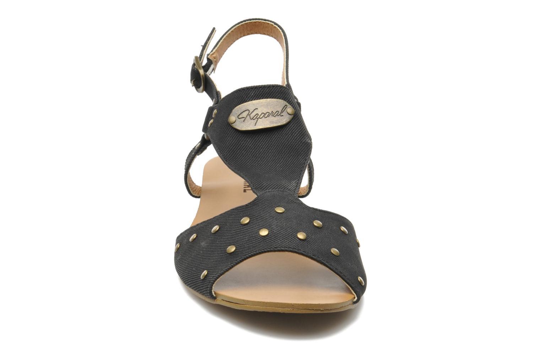 Sandales et nu-pieds Kaporal Paddy Noir vue portées chaussures