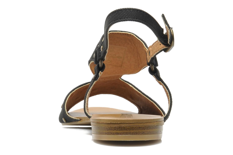 Sandales et nu-pieds Kaporal Paddy Noir vue droite