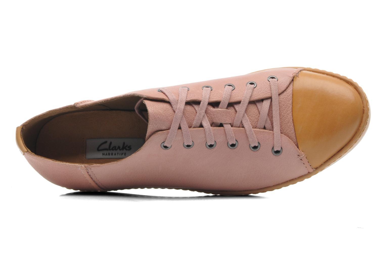 Sneaker Clarks Flounce Free rosa ansicht von links
