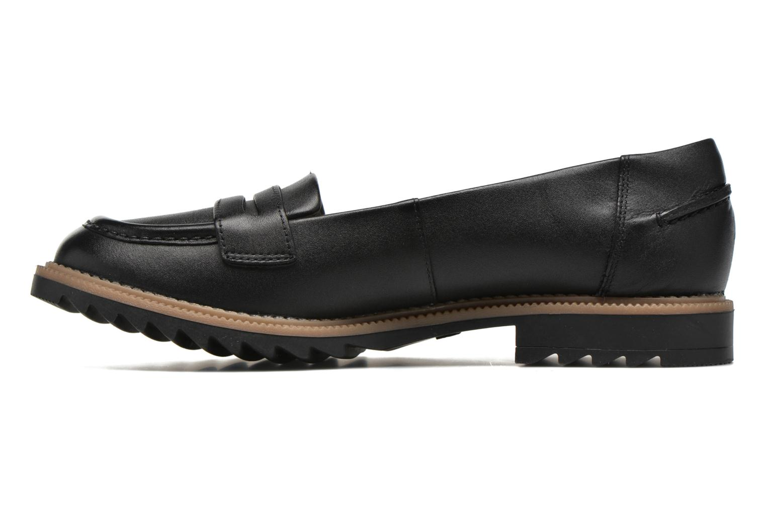 Loafers Clarks Griffin Milly Black front view