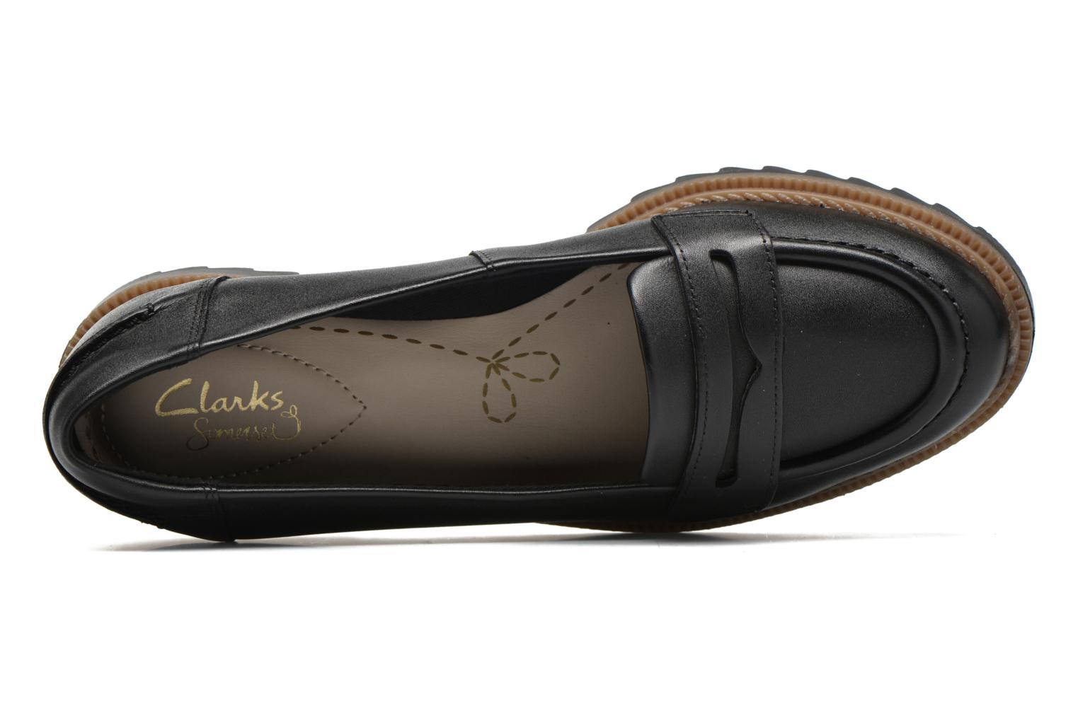 Loafers Clarks Griffin Milly Black view from the left