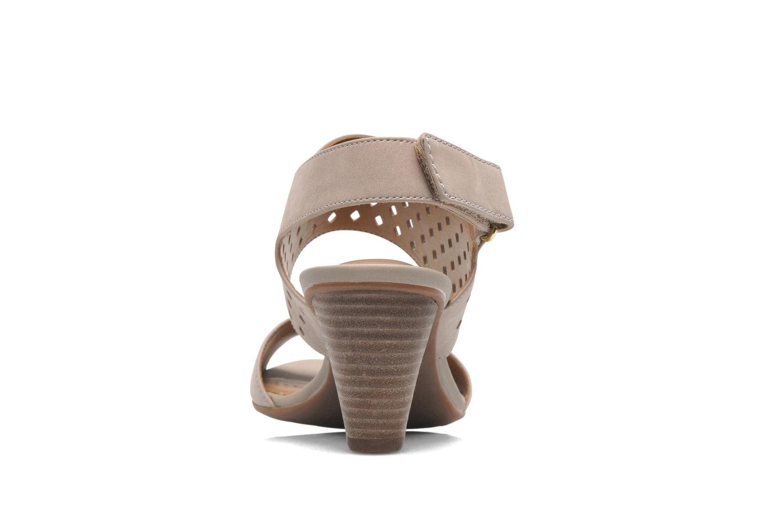 Sandals Clarks Ranae Alette Beige view from the right