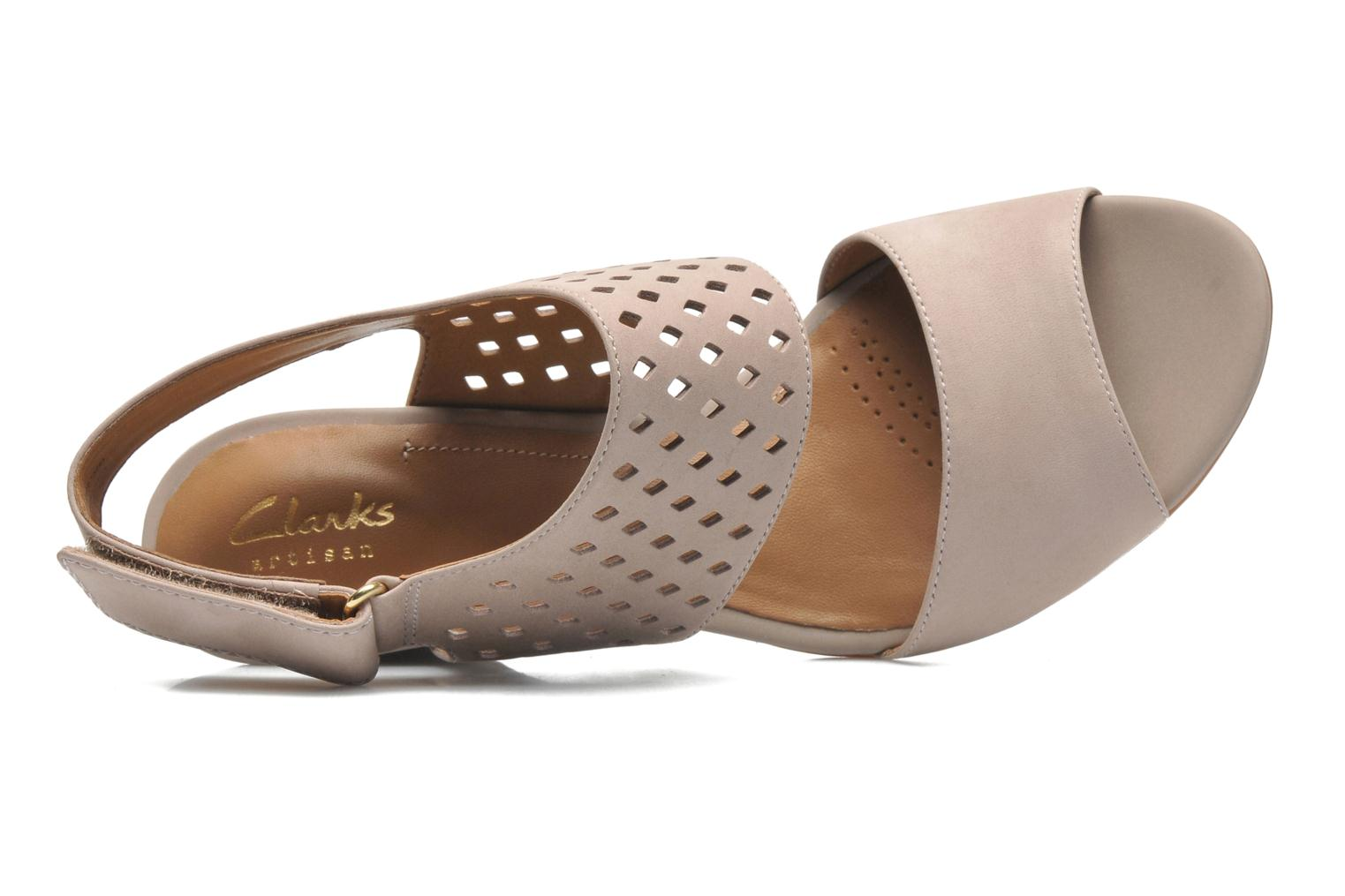 Sandals Clarks Ranae Alette Beige view from the left