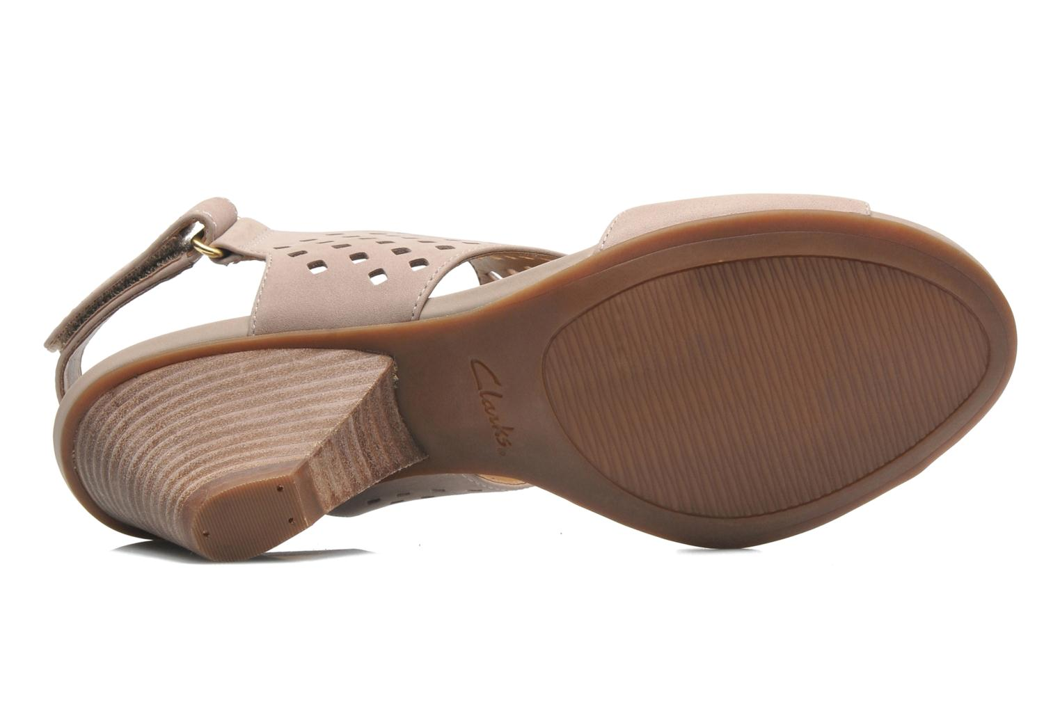 Sandals Clarks Ranae Alette Beige view from above