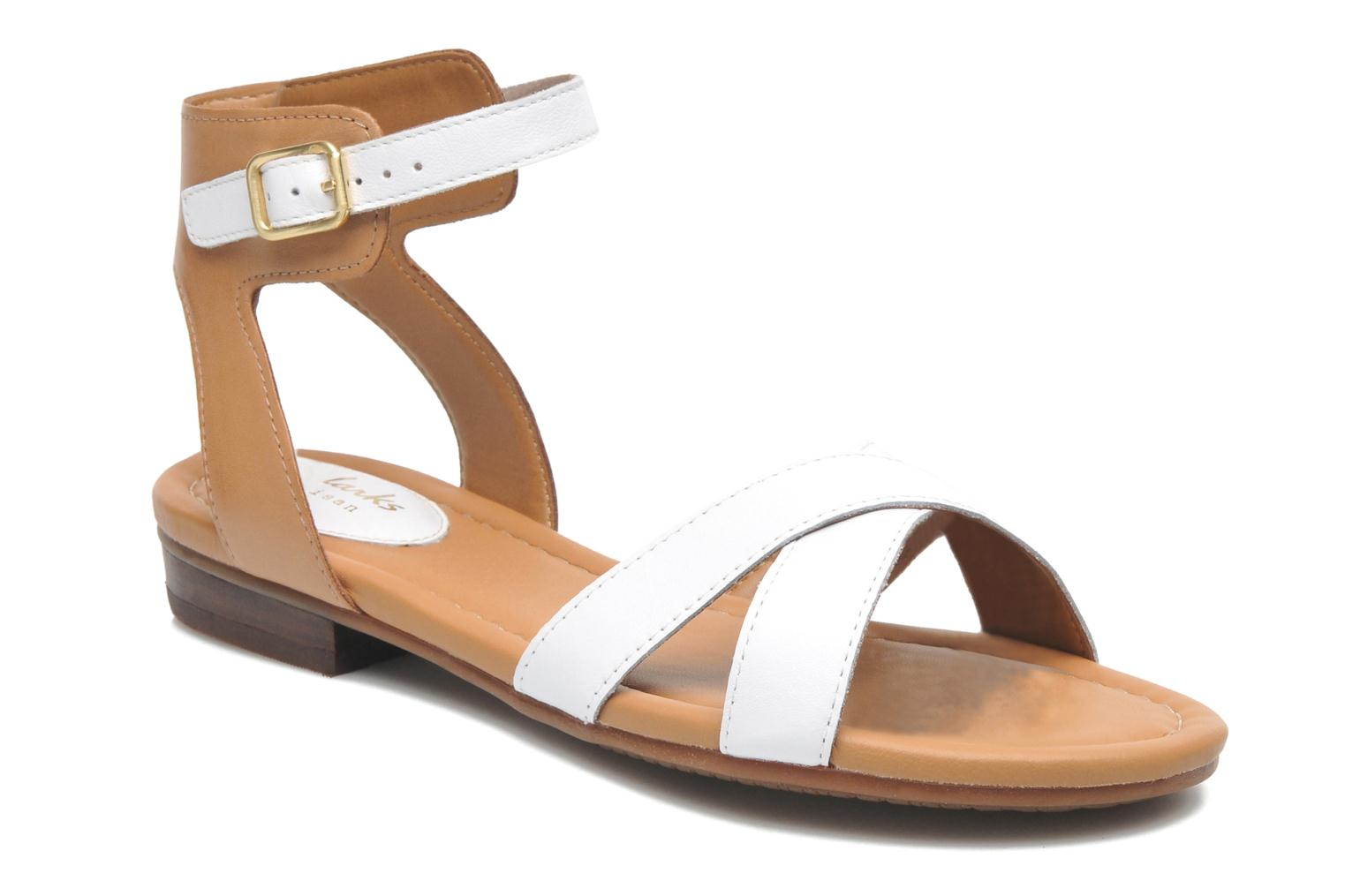 Sandals Clarks Viveca Zeal White detailed view/ Pair view