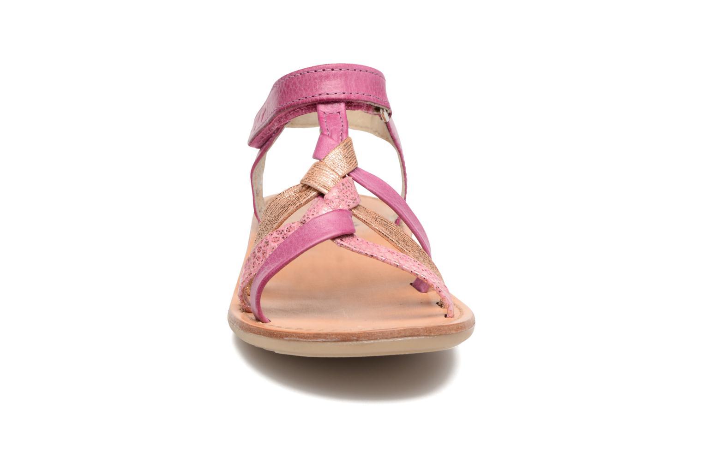 Sandals Noël Strass Pink model view