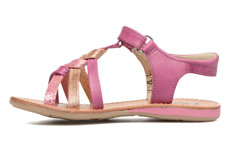 Sandalen Noël Strass rosa ansicht von vorne