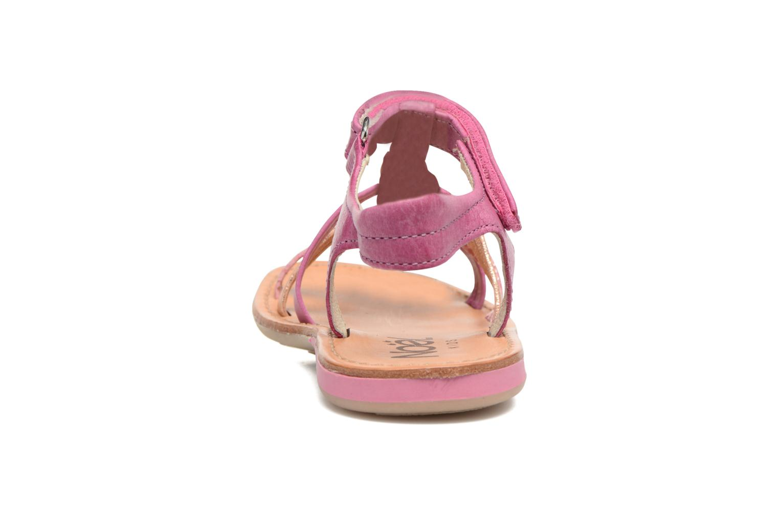 Sandals Noël Strass Pink view from the right