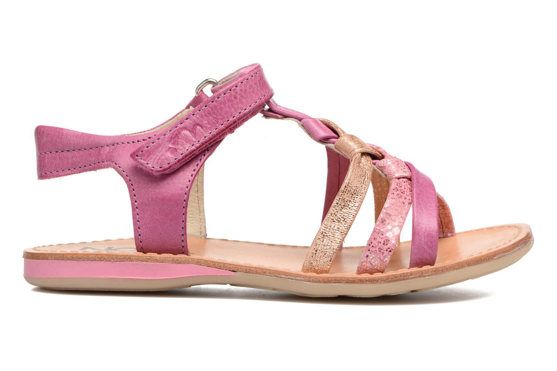 Sandales et nu-pieds Noël Strass Rose vue derrière