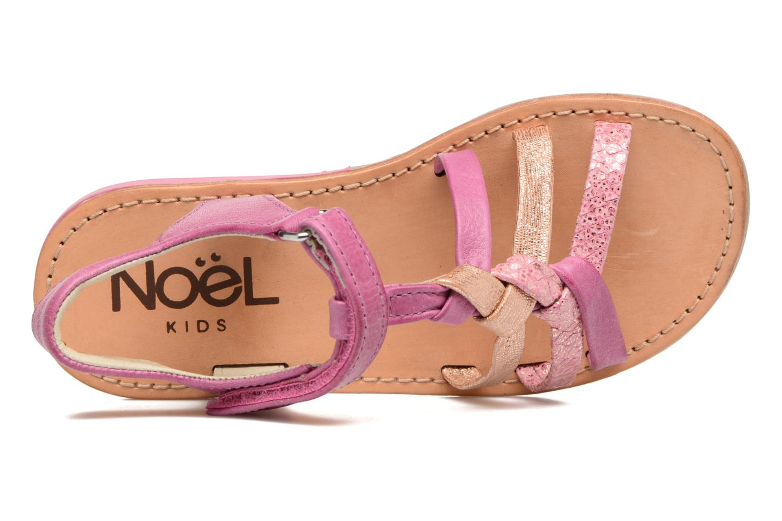 Sandals Noël Strass Pink view from the left