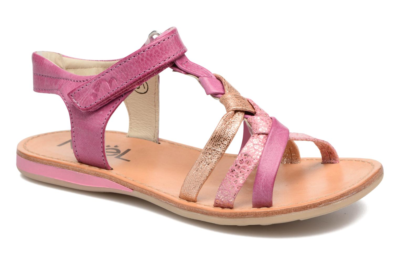 Sandals Noël Strass Pink detailed view/ Pair view