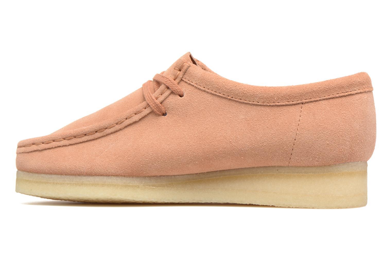 Chaussures à lacets Clarks Originals Wallabee W Rose vue face