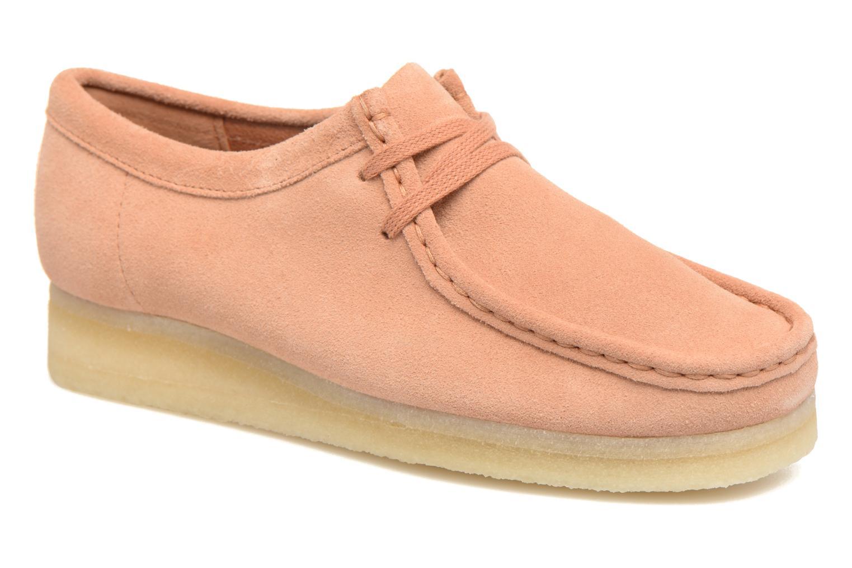 Zapatos con cordones Clarks Originals Wallabee W Rosa vista de detalle / par