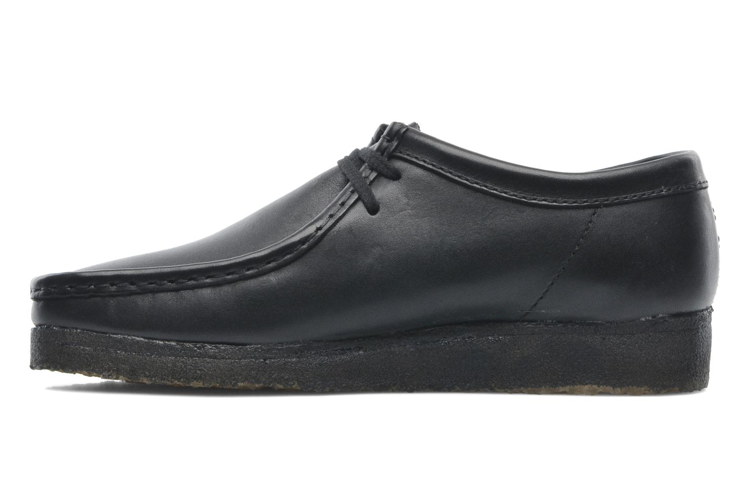 Lace-up shoes Clarks Originals Wallabee M Black front view
