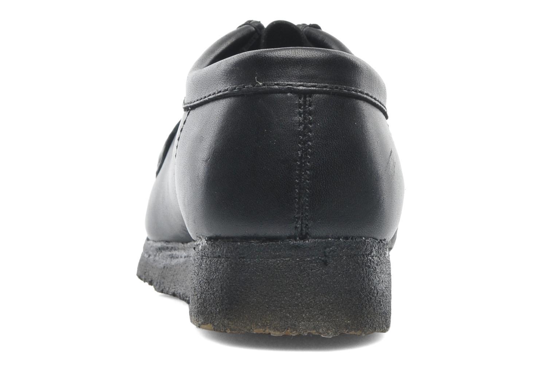 Zapatos con cordones Clarks Originals Wallabee M Negro vista lateral derecha