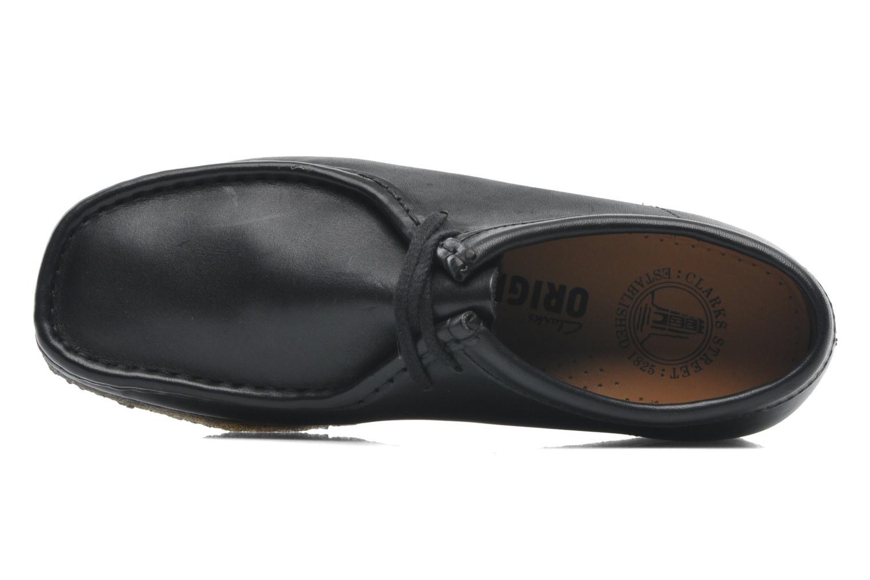 Zapatos con cordones Clarks Originals Wallabee M Negro vista lateral izquierda