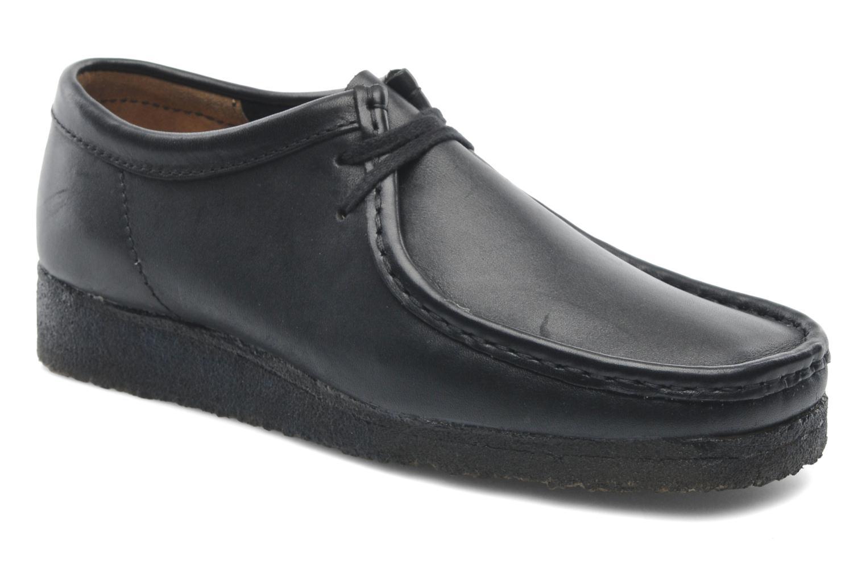 Zapatos con cordones Clarks Originals Wallabee M Negro vista de detalle / par
