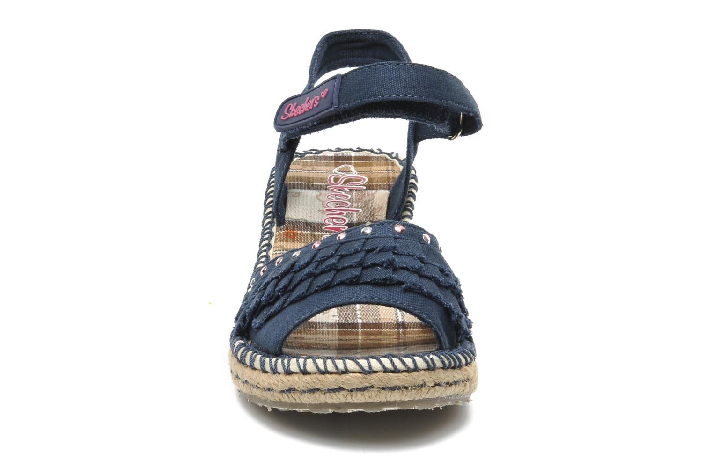 Sandalen Skechers TikisRuffle Ups blau schuhe getragen
