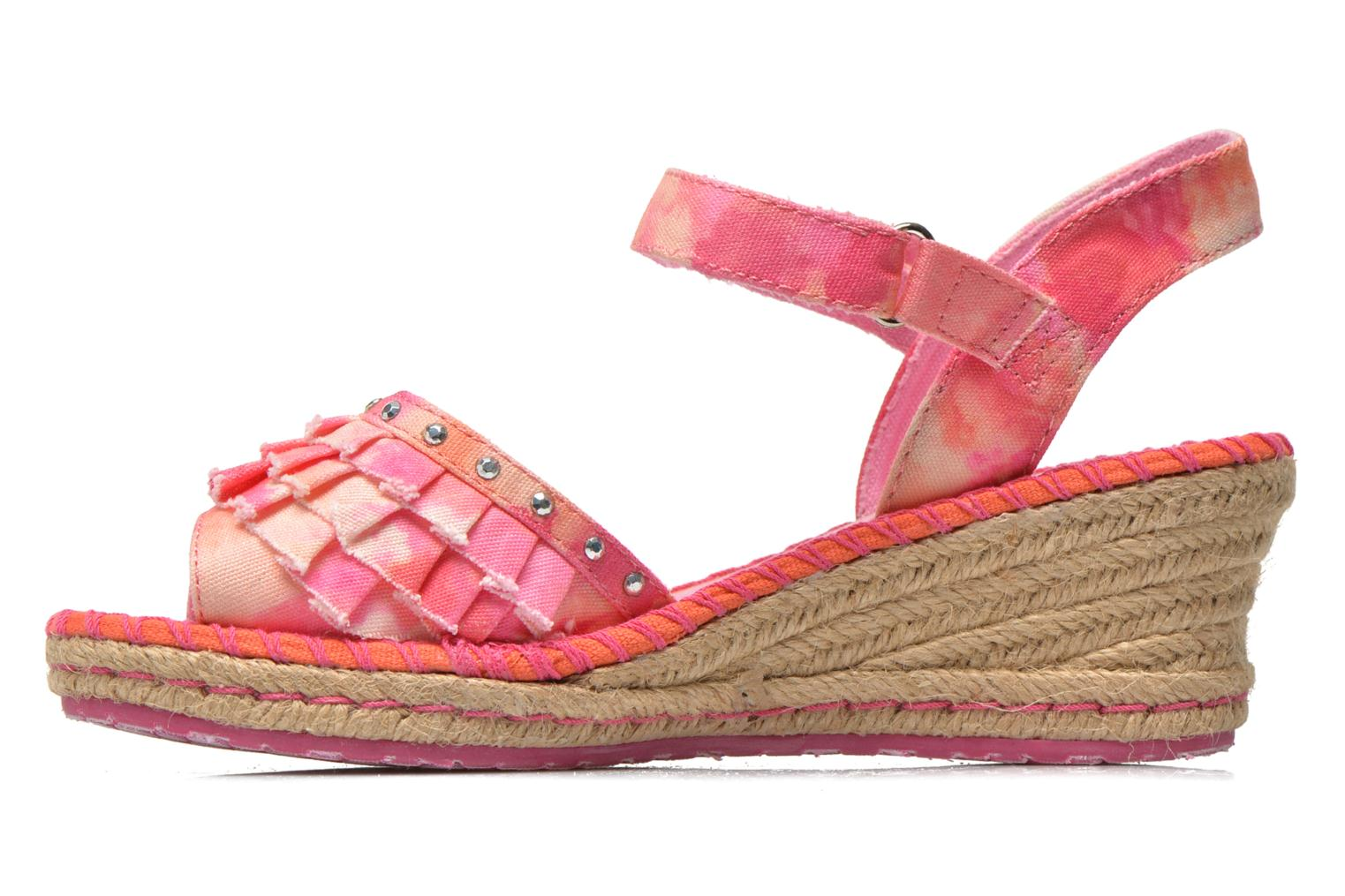 Sandals Skechers TikisRuffle Ups Pink front view